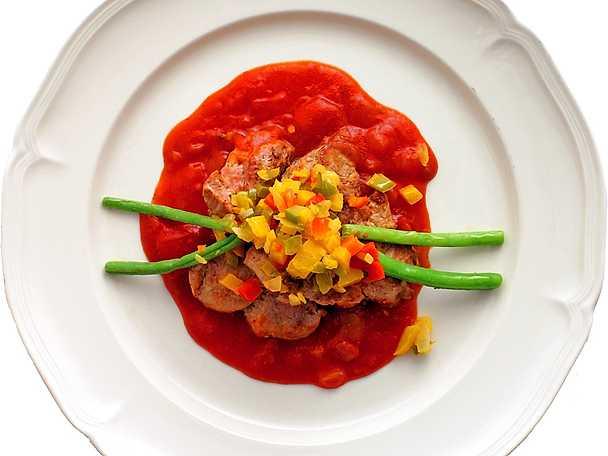 Fläskfilé med paprikafräs och salsa