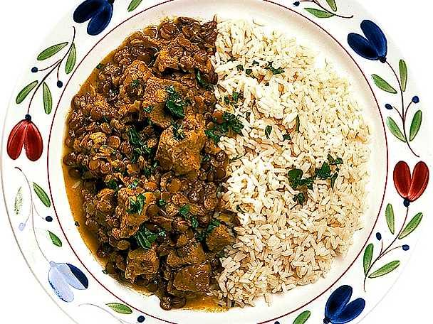 Fläskgryta med linser och curry