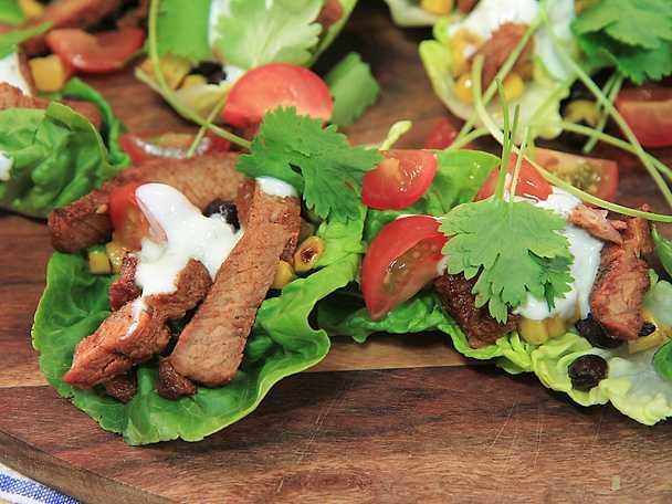Fläskkarré med mexikansk rub och majssallad