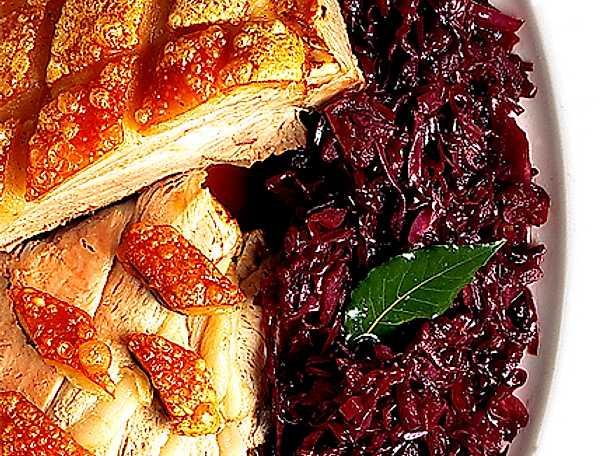 Fläskstek med rödkål