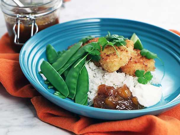 Frasig currytorsk med hemgjord mangochutney