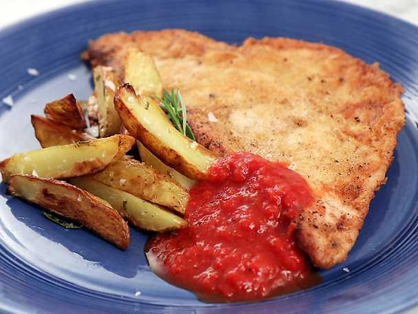 Frasig piccata på kalkonbröst, Sandra Mastios recept