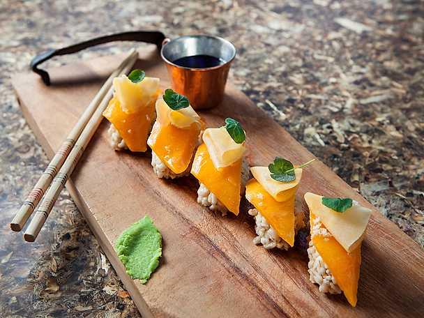 Frebaco Svensk sushi med kålrot och pumpa