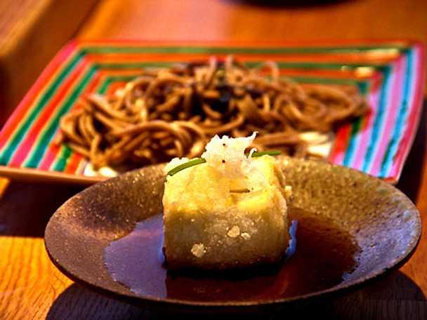 Friterad tofu och soba