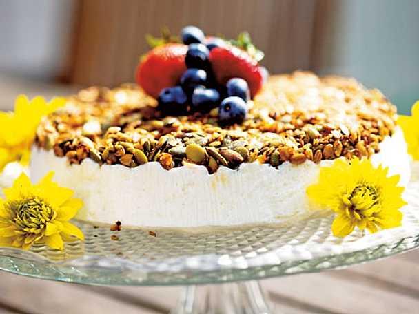 Frozen cheesecake med crunch