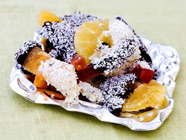 Frukt- och chokladgodis