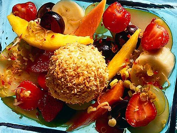 Fruktsallad i citrongräslag