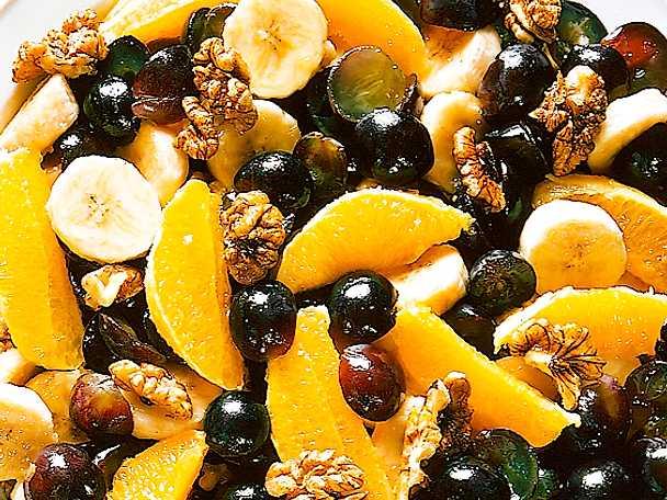 Fruktsallad med honung