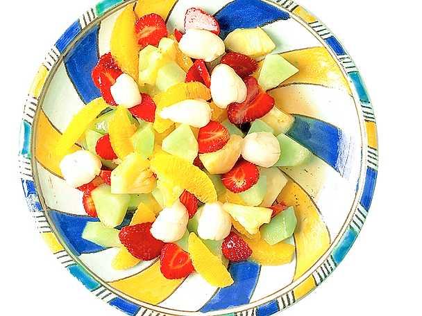 Fruktsallad med litchi