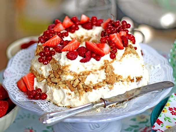 Frusen cheesecake på mascarpone