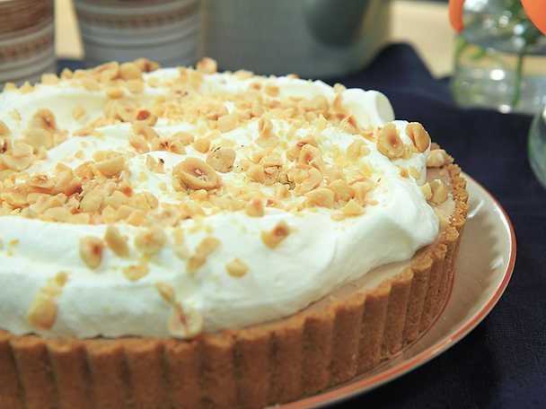 Fryst nutellacheesecake med hasselnötter
