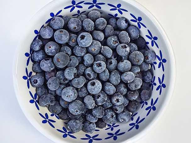 Frysta blåbär
