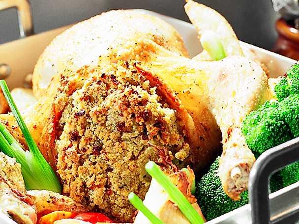 Fylld kyckling i ugn