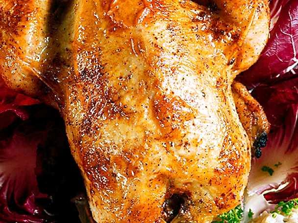 Fylld kyckling med persiskt ris