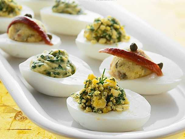 Fyllda ägghalvor