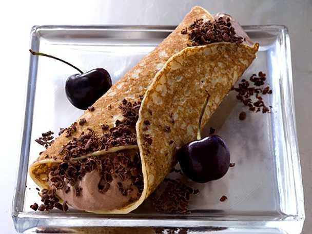 Fyllda chokladpannkakor
