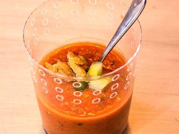 Gittans kanariska gazpacho