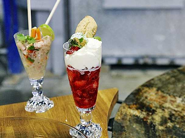 Glashyttegubbar med punschgrädde