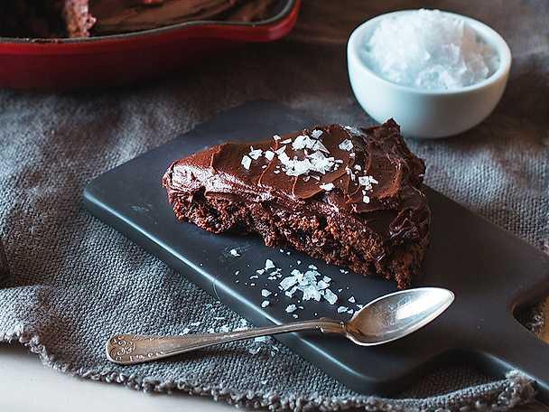 Glutenfri brownie med ganache
