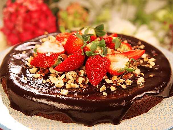 Glutenfri chokladkaka med hasselnötter
