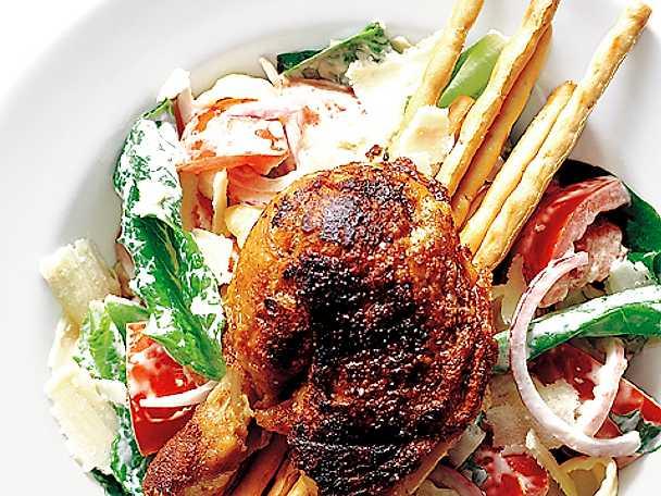 Gnocchi Caesar med kycklingklubbor
