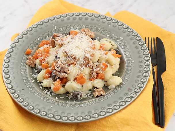 Gnocchi med pumpa och gorgonzola