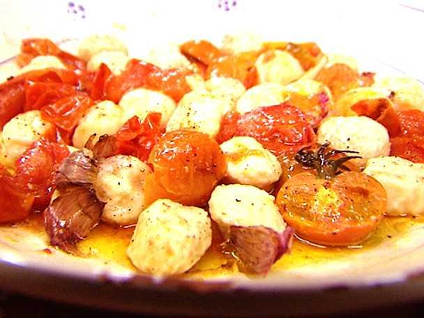 Gnudi med ugnsrostade tomater