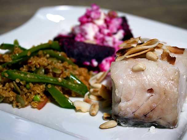 Gös med asieninspirerad quinoa
