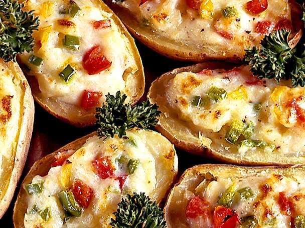 Gratinerade potatis med paprika