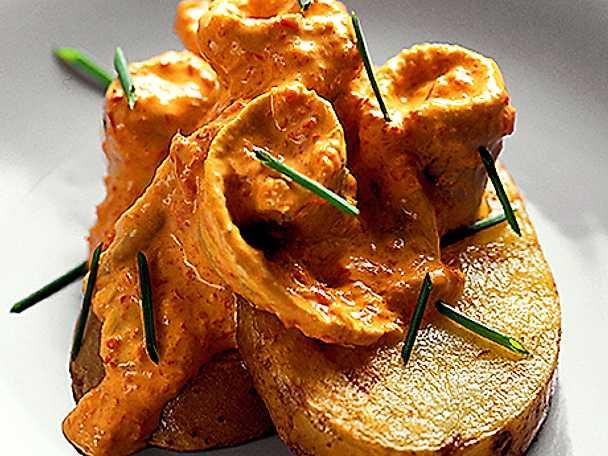 Gravad strömming på potatis