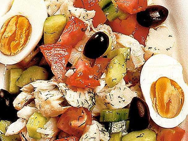 Grekisk fisksallad