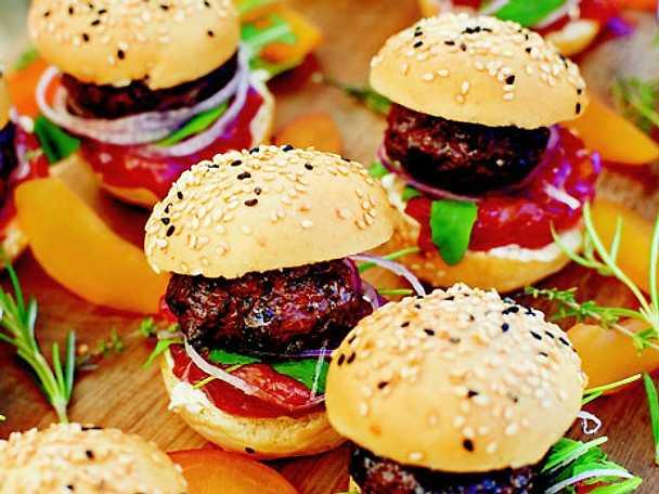 grillade hamburgare recept