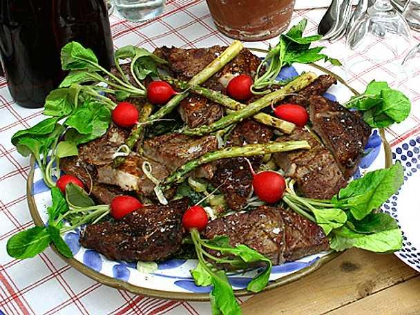 Grillad entrecote med fräsch sallad