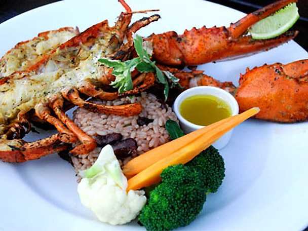 Grillad hummer Jamaica style