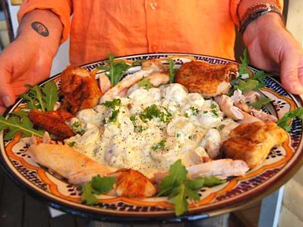 Grillad kyckling med currypotatis