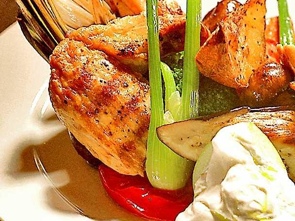 Grillad kyckling med fläderyoghurt