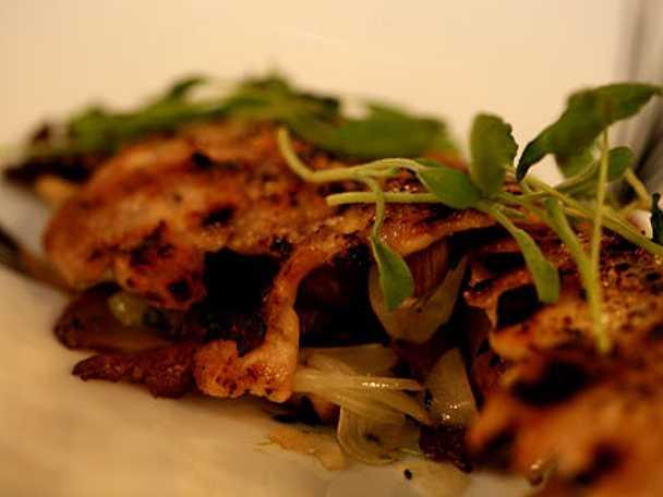 Grillad kyckling med stekt ostronskivling