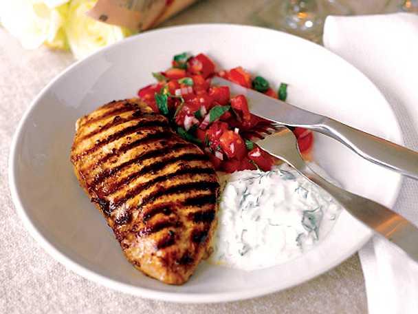 Grillad kycklingfilé med yoghurtdressing