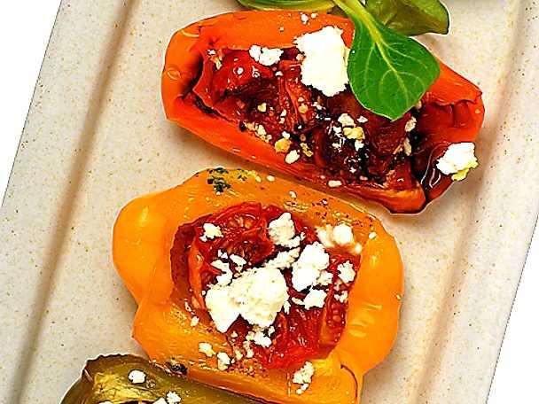 Grillad paprika med fetaost