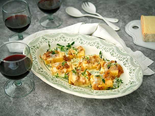 Grillad polenta med taleggio