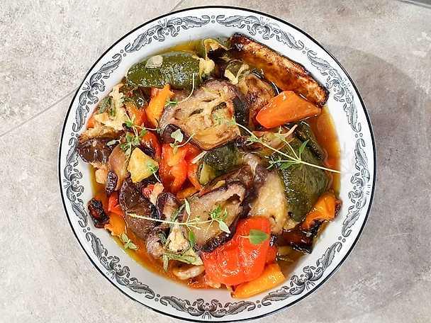 Grillade och marinerade grönsaker