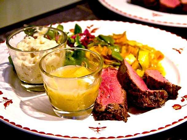 Grillat nötkött med asieninspirerad sallad