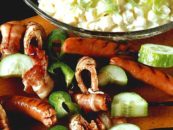 Grillspett med potatissallad