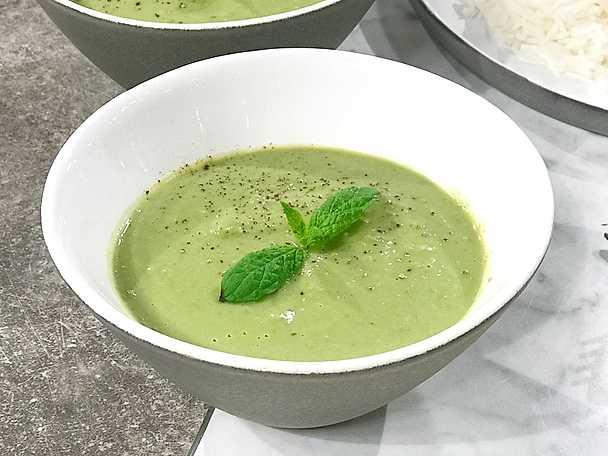 Grön ärtsoppa med mynta, Markiz Taintons recept