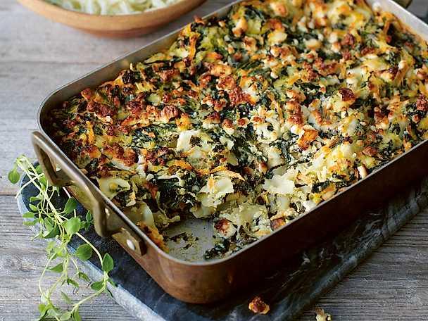 Grön lasagne med spenat, morot och ricotta