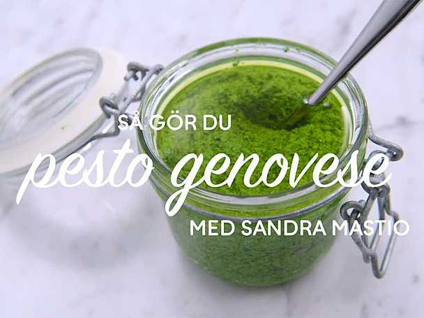 Grön pesto - se & gör