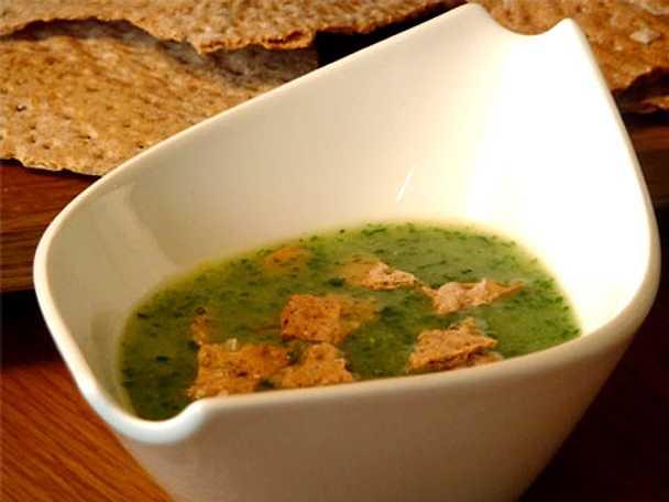 Grön potatissoppa