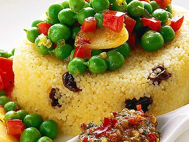 Gröna ärter med couscous