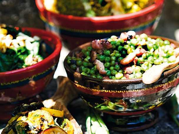 Gröna ärter med pancetta