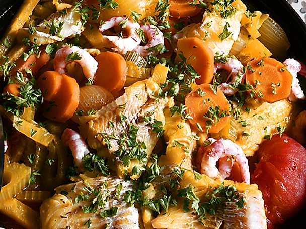 Grönsaks- och fiskgryta